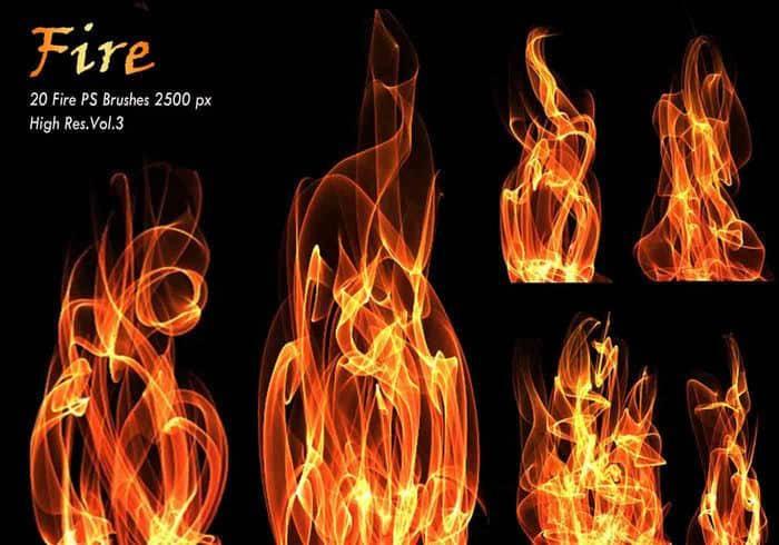 多种火光,火苗,燃烧,火焰特效ps笔刷素材分享(附下载)
