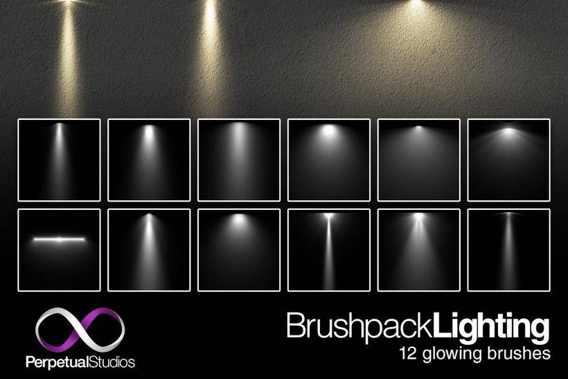 150 种光影,光线,光束,投影笔刷素材分享(附下载)