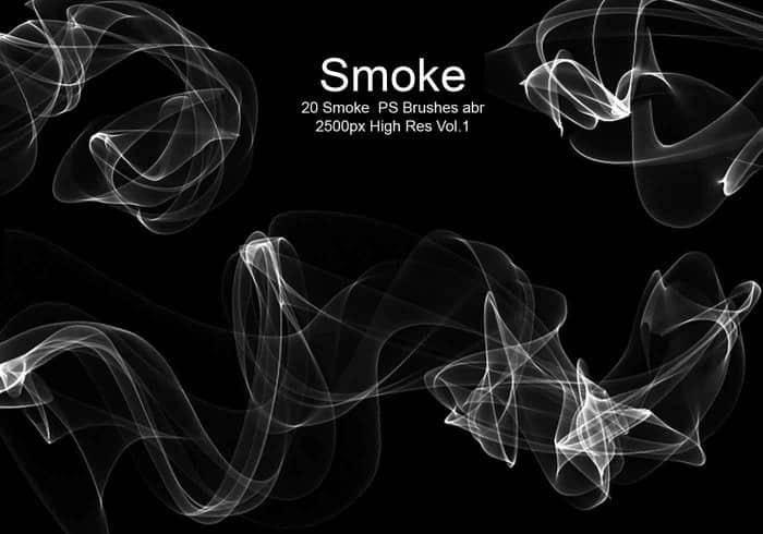1,20清影流烟,炫动光影,烟气,烟雾效果ps笔刷素材