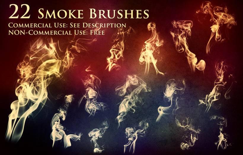 多种流烟,烟雾,水汽,烟气效果ps笔刷素材分享(附下载)