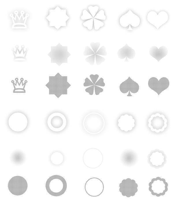 多种形状图案ps笔刷素材分享(附下载)