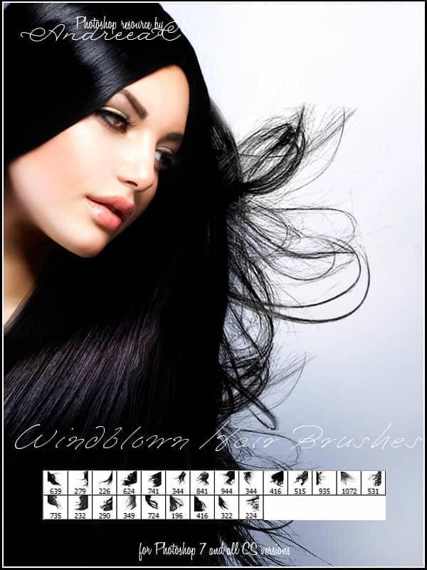 多种头发,毛发,发型ps笔刷素材分享(附下载)