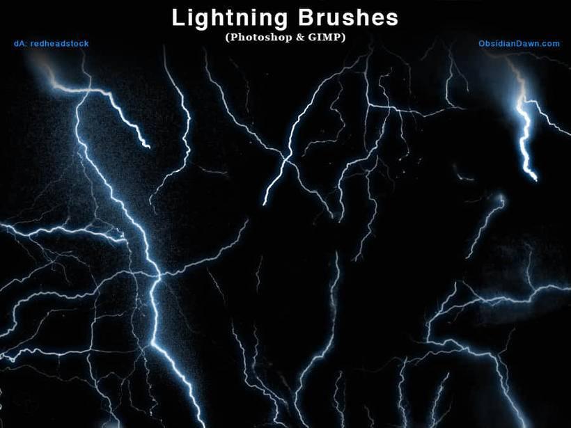 数百种闪电雷电效果ps笔刷素材分享(附下载)