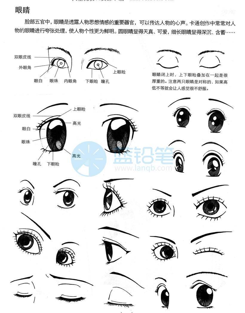 【女生画法】动漫人物画法,技法资料集-女生篇