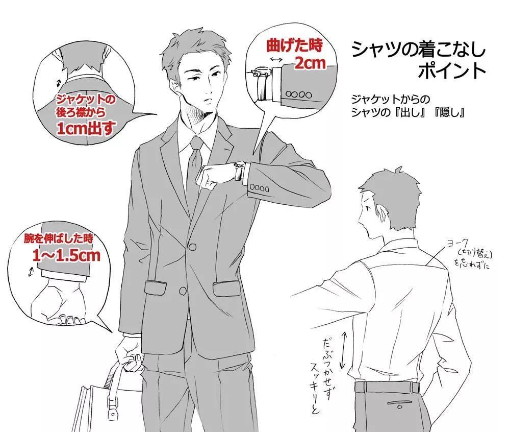 画霸道总裁与贵族的必备:西装的画法