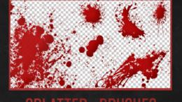 血迹、血手印、血玫瑰、吸血鬼图案伤口效果PS笔刷下载