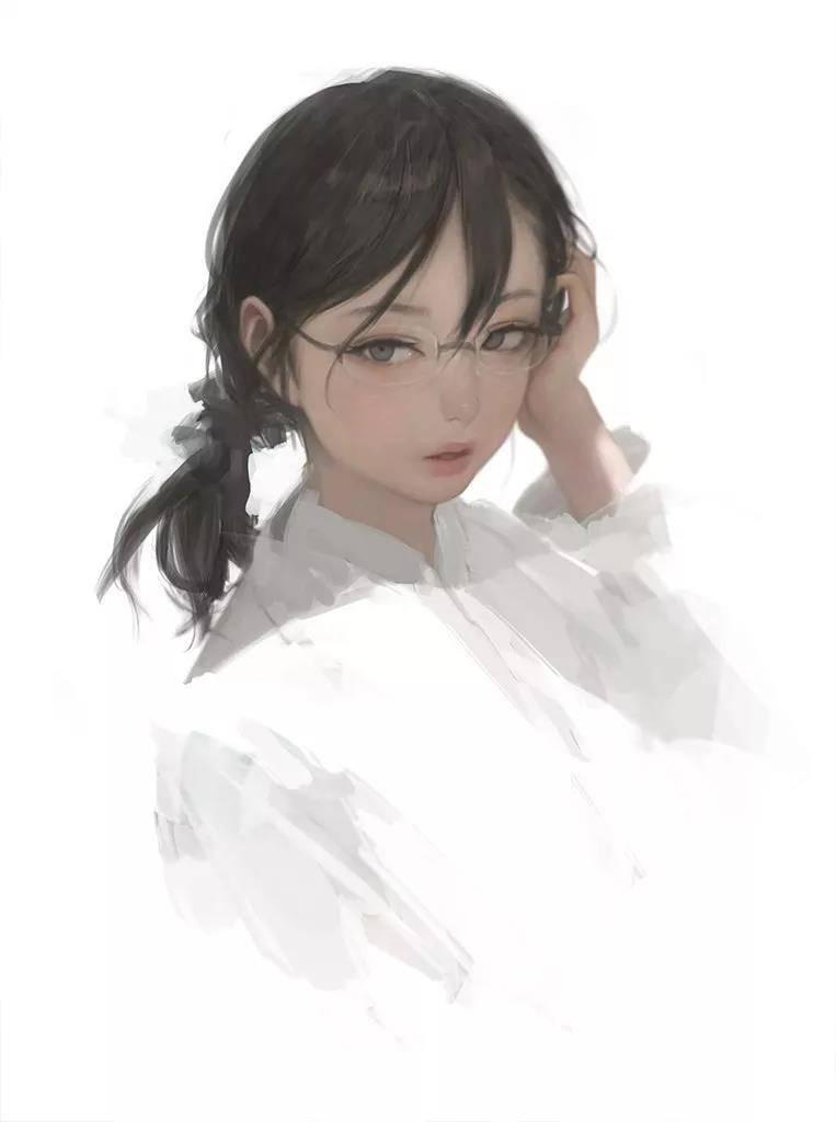 像开了柔光一样,可爱又迷人的少女
