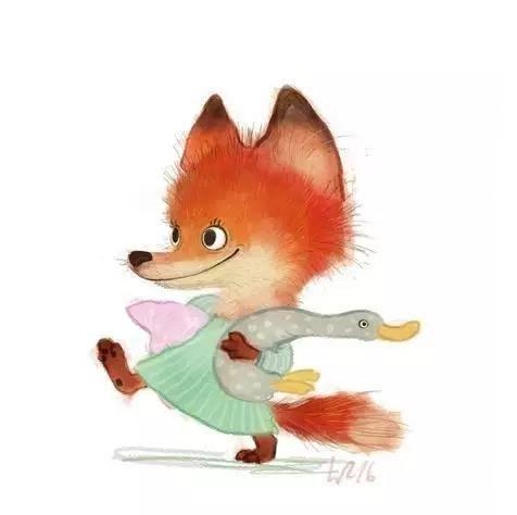 又呆萌又可爱的动物插画~萌化了!