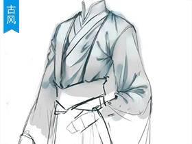 【古风插画】整体服装褶皱的详细刻画_绘画教程