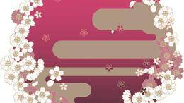 日系和风-樱花柄-背景素材下载