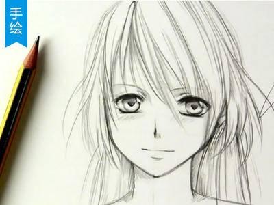 【手绘】10分钟教你搞定日漫萌妹砸_漫画教程