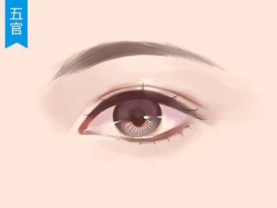 【五官教程】女性角色眼睛的绘制过程_绘画教程