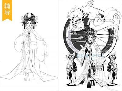 【日系辅导】和风黑白插画构图与细节处理_绘画教程