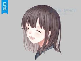 【日系插画】细腻发丝的刻画技巧_绘画教程