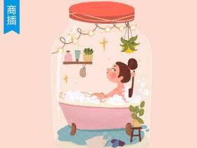 【商插教程】Procreate 住在瓶子里的少女_绘画教程