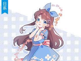 【日系教程】SAI蓝色小洋装少女立绘上色教程